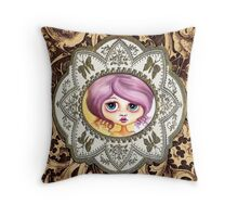 Little Lilac - Purple Hair Pastel Goth Girl Throw Pillow