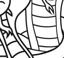 2 snakes team crew buddies couple love evil dangerous cool cobra snake comic cartoon design Sticker