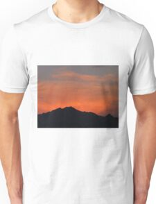 Red Glow Behind the Santa Rita Mountain Range Unisex T-Shirt