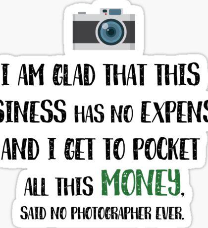 Photographer Funny Fact Sticker