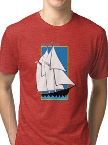Bluenose II Lunenburg NS Tri-blend T-Shirt