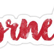 Cornell- script Sticker