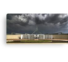 Storm over Parliament House - Canberra Canvas Print