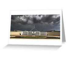 Storm over Parliament House - Canberra Greeting Card