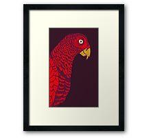 The Red Bird Framed Print