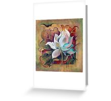 """Privileged One"" from the series """"In the Lotus Land"" Greeting Card"