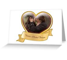 Outlander/Jamie & Claire heart Greeting Card
