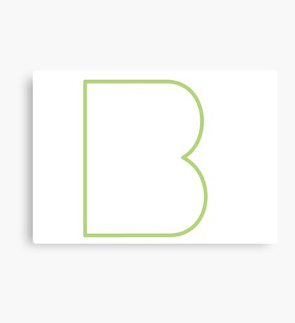 B line - Green Canvas Print