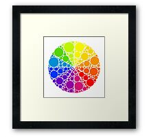 Color wheel palette or color circle isolated. The physical representation of color transitions and HSB. Framed Print