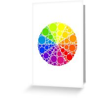 Color wheel palette or color circle isolated. The physical representation of color transitions and HSB. Greeting Card