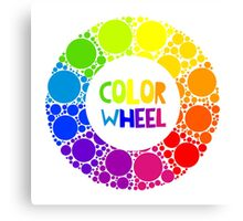 Color wheel palett or color circle isolated.  Canvas Print