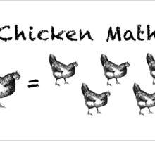 Chicken Math - Woodcut Sticker