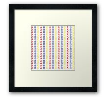 Primary Color ABC Pattern Framed Print