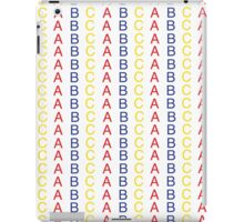Primary Color ABC Pattern iPad Case/Skin