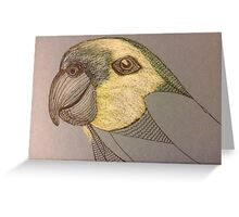 The Unfinished Parrot Greeting Card