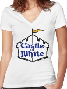 Castle Of White Women's Fitted V-Neck T-Shirt