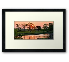Hartgrave Creek Panorama Framed Print