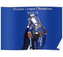 Leicester City Premier League Champions Poster
