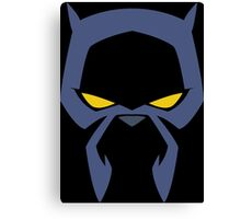 Animated Cat-lover Superhero (Negative) Canvas Print