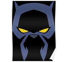 Animated Cat-lover Superhero (Negative) Poster