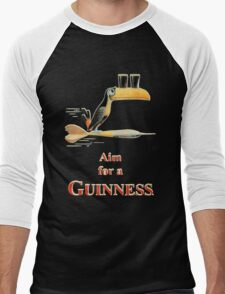 GUINNESS AIM FOR A GUINNESS VINTAGE ART Men's Baseball ¾ T-Shirt