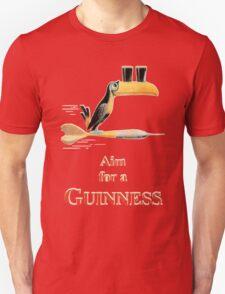 GUINNESS AIM FOR A GUINNESS VINTAGE ART Unisex T-Shirt