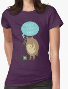 Yak on the Phone Womens Fitted T-Shirt