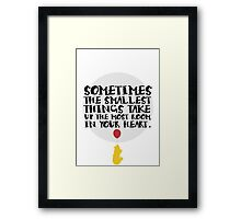 Smallest Things Framed Print