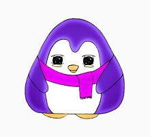 Glowing Purple Gum Drop Penguin Women's Fitted Scoop T-Shirt