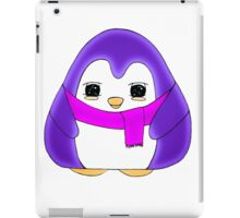 Glowing Purple Gum Drop Penguin iPad Case/Skin