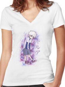 Kirua - Hunter x Hunter Women's Fitted V-Neck T-Shirt
