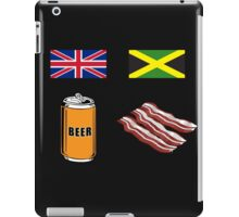 "English ""Beer-Can"" = Jamaican ""Bacon"" iPad Case/Skin"