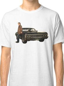 Supernatural Dean and his Impala Classic T-Shirt