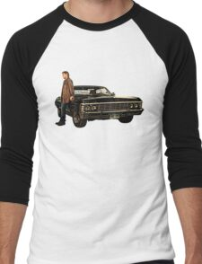 Supernatural Dean and his Impala Men's Baseball ¾ T-Shirt
