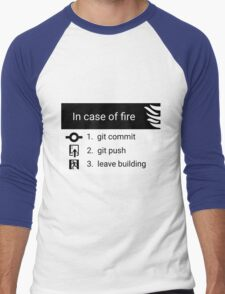 In case of fire Men's Baseball ¾ T-Shirt
