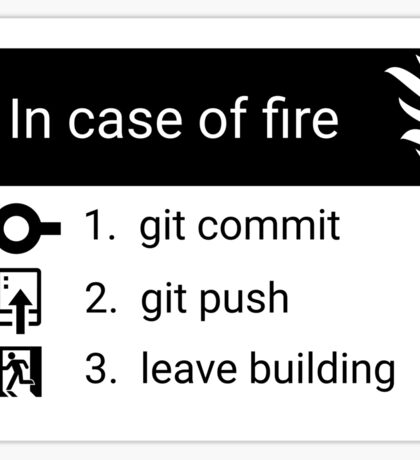 In case of fire Sticker