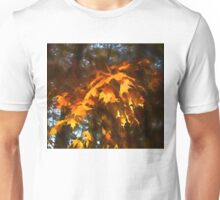 Spotlight on the Golden Maple Leaves - Fall Forest Impressions Unisex T-Shirt