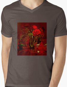In Red Mens V-Neck T-Shirt