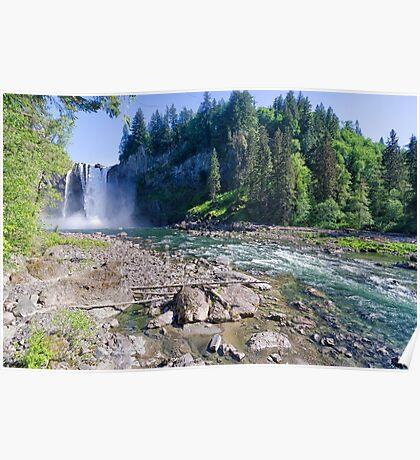 Snoqualmie River Falls Poster