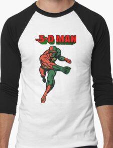 3-D Man Men's Baseball ¾ T-Shirt