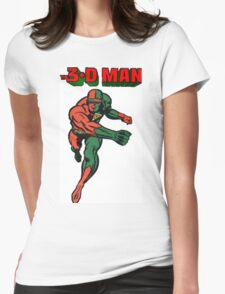 3-D Man Womens Fitted T-Shirt