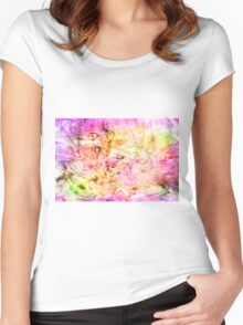Spring Swirl Women's Fitted Scoop T-Shirt