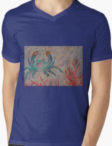 Happy Crab  Mens V-Neck T-Shirt