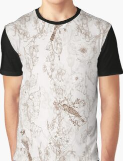 Bird Menagerie [Sepia] Graphic T-Shirt