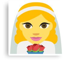 Bride emoji Canvas Print