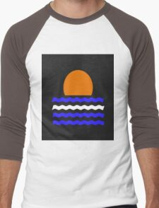 Simple Sunset Men's Baseball ¾ T-Shirt