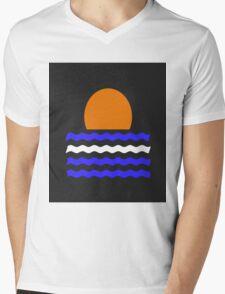 Simple Sunset Mens V-Neck T-Shirt