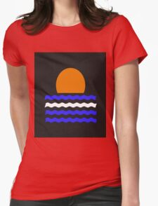 Simple Sunset Womens Fitted T-Shirt