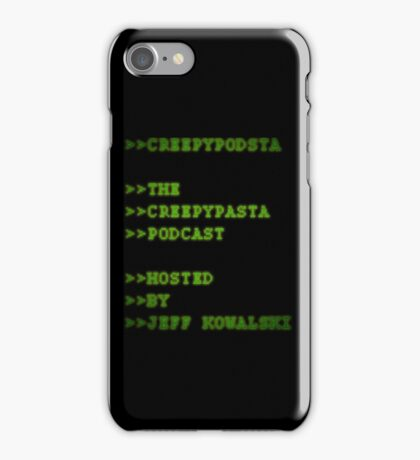 CreepyPodsta Podcast Logo iPhone Case/Skin