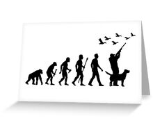 Duck Hunting Evolution Of Man Greeting Card